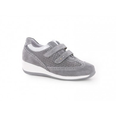 SWISSIES - SCARPA DONNA NIVES 4/127/271 CAMOSCIO TRAFORATO - LIGHT GREY- COL. P/E (39)