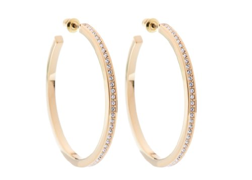 Karen Millen Large Gold Hoop Earrings