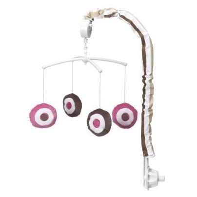 Mod Dots/str Pink/Choc Mobile - 1