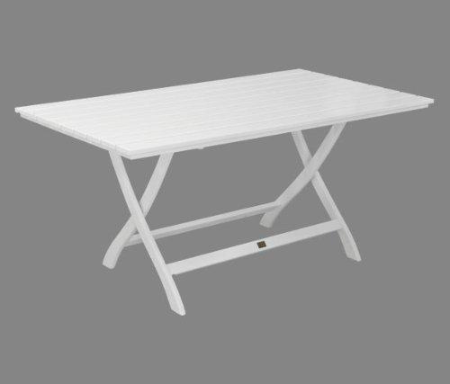 Gartentisch Mainau klappbar eckig – Nostalgie aus Holz – weiß lackiert – Qualität aus Deutschland günstig kaufen