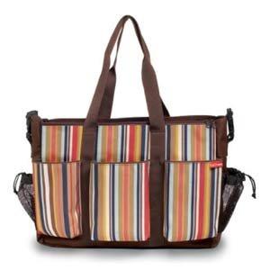 Skip Hop Uptown Stripe Double Duo Diaper Bag