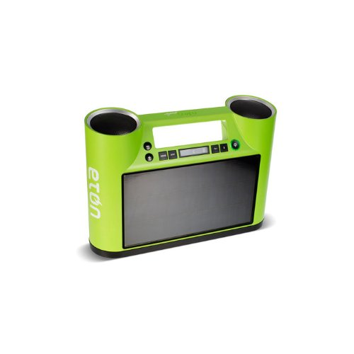 Eton Rukus Portable Bluetooth Solar Powered Wireless Speaker System (Green) - (NRKS100GR)