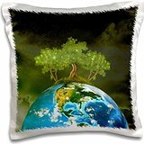 Simone Gatterwe Designs Fantasy - Protect nature planet earth wood ecosystems green - 16x16 inch Pillow Case