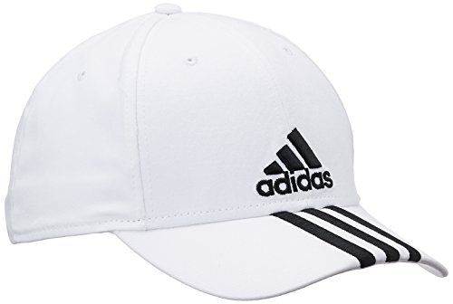 Adidas, Cappellino Performance, Bianco (White/Black), 58 cm