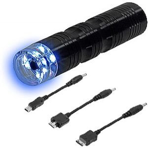 Aa Battery Powered Emergency Charger W/Led Flashlight For Casio Exilim C721 front-938451