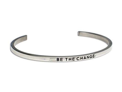 BE THE CHANGE:Gift for Her,Mantra Bracelet, Inspirational gift,100% Guaranteed,Perfect Gift.