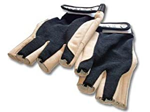 SAILING GLOVES- SAILING PRO FIVE FINGERS CUT - LEATHER AND FOURWAY SPANDEX LYCRA - FIVE OCEAN (L  -  LARGE  -  1492)