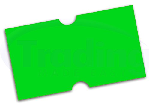 Etiquettes Pour Etiqueteuse Prix (CT1 Punch Hole) VERT 22 x 12mm (Green Labels)