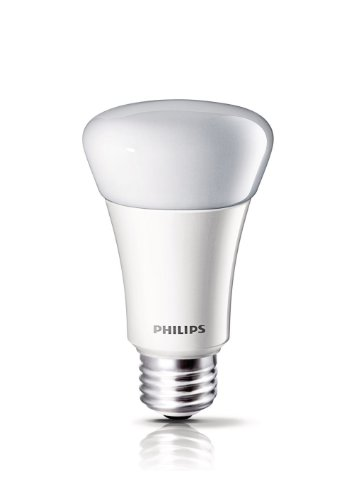 Philips 425256 8-Watt (40-Watt) A19 Led Household Daylight Light Bulb, Dimmable