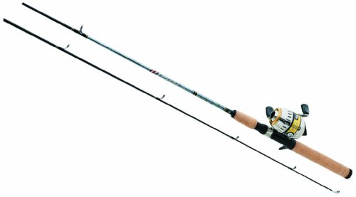 Daiwa D-Turbo 3+1 Ball Bearing Medium Light Spincast Combo, 2 Piece (5-Feet 6-Inch, Tan)