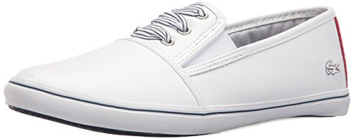 Lacoste Women's Fabian 416 1 Caw Fashion Sneaker, White, 8 M US