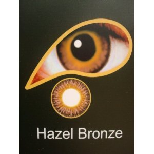Coloured Contact Lenses with Free Solution & Case- Hazel Bronze (3 months)