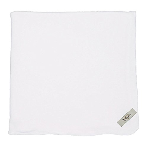 "My Blankee Organic Cotton  Jersey Knit Swaddle Baby Blanket, 47"" X 47"", White"