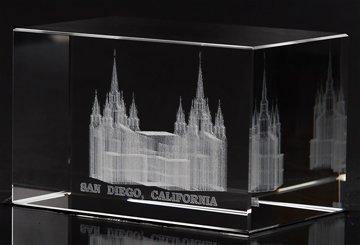 San Diego Temple Crystal Cube
