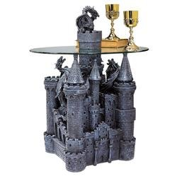 Gothic Medieval Mystical Dragon Castle Coffee Table New The Digital Angel