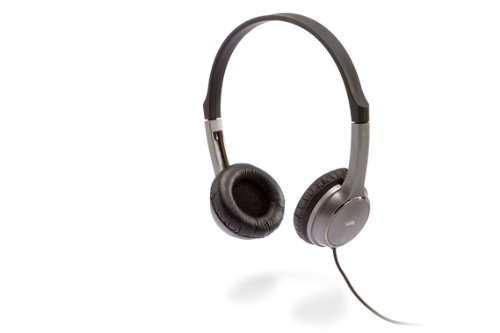 Cyber Acoustics Acm-7000 Stereo Headphones For Kids (Silver)