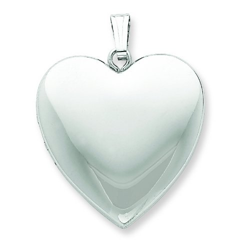 Sterling Silver 24mm Plain Heart Locket