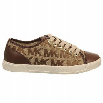 Michael Michael Kors Women'S Mk City Sneaker (Mocha Logo 8.0 M)