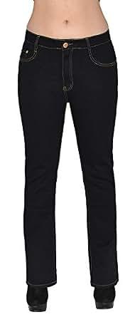 jean femme bootcut jean pour femmes pantalon en jean femme noir et bleu grande taille j111. Black Bedroom Furniture Sets. Home Design Ideas