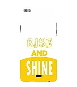EPICCASE Rise and Shine Mobile Back Case Cover For Micromax Sliver 5 Q450 (Designer Case)