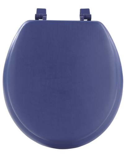 Achim Home Furnishings Tovystny04 17-Inch Fantasia Standard Toilet Seat, Soft Navy