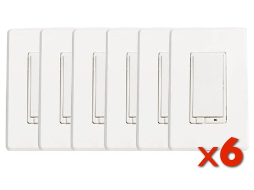 Evolve Lrm-As Zwave Wall Dimmer 6Pack