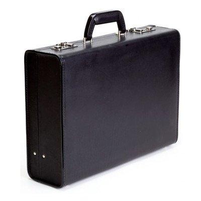Classic Leather Attache Case Color: Black