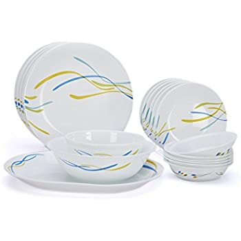 Buy corelle india collection foliage round dinner set 21 for Kitchen set bartan