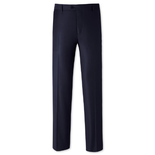 Charles Tyrwhitt Navy tailored fit luxury suit trouser (40W x 34L)