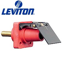 Leviton 16R24-14Y 600-Volts, Single Pole, Cam-Type, Female, Panel Receptacle, Continuous, Cable Range, Yellow