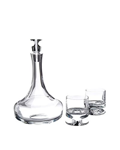 Nambé Groove 3-Piece Decanter Set