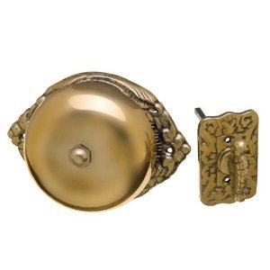Victorian Syle Mechanical Twist Door Bell Antique Reproduction Ornate Solid Brass Doorbell