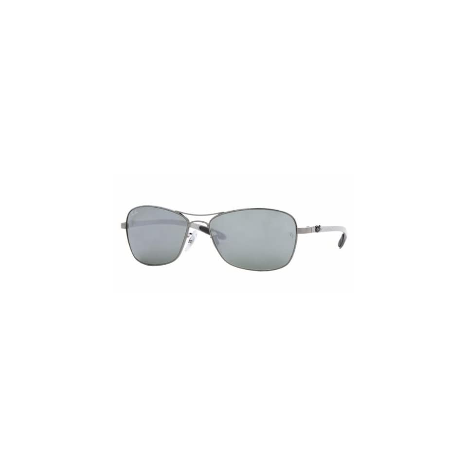 41603399628 Ray Ban RB8302 Tech Sunglasses 004 40 Gunmetal (Crystal Gray Mirror Lens)  58mm