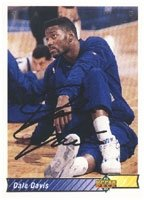 Dale Davis Indiana Pacers 1992 Upper Deck Autographed Hand Signed Trading Card - Nice... by Hall+of+Fame+Memorabilia