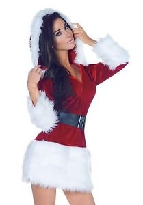 Lanlan Sexy Womens Mrs Santa Claus Christmas Halloween Costume