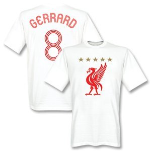Liverpool Gerrard Euro T-shirt White-xl by Retake