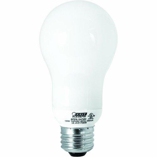 Feit Electric Esl15Atmm 15-Watt Compact Fluorescent Household Bulb, 60-Watt Incandescent Equivalent
