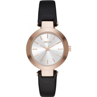 dkny-womens-28mm-black-calfskin-band-steel-case-quartz-silver-tone-dial-analog-watch-ny2458