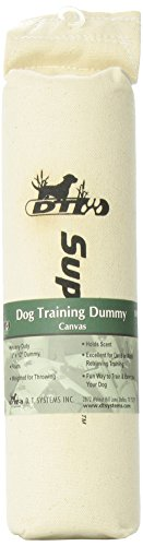 D.T. Systems Canvas Dog Training Dummy, Natural Canvas, Large, 3-Inch by 12-Inch