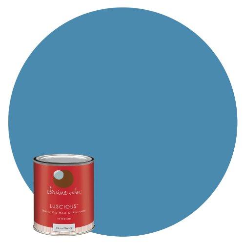 Devine Coast, Ocean Tide Pools Collection, Devine Color Interior Paint, Luscious Semigloss, 1-Quart (Light Blue Wall Paint compare prices)
