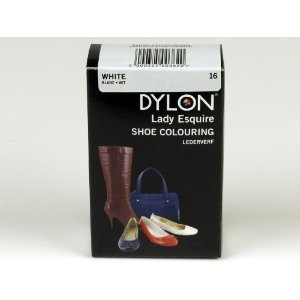 1 x Dylon 20ml Sachet Lady Esquire Leather & Synthetic White Shoe Boot Colouring