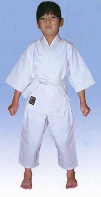 Mitsuboshi infant Judo wear jacket + pants + white belt set color: White J-22004 baby No. 4 (100 to 110 cm)