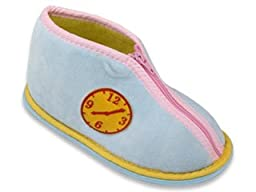 New Starbay Brand Toddler\'s Pink Terry Cloth Indoor Zip-Up Slippers Size Large