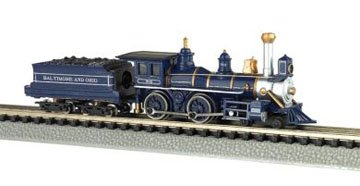 Bachmann N 11754 Baltimore & Ohio Royal Blue 4-4-0 American Steam Locomotive