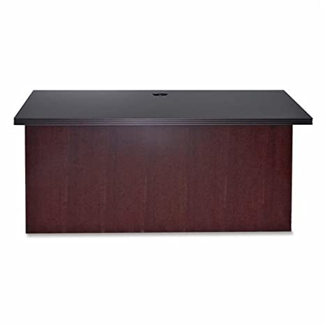 Lorell Varnished Bridge, 48 by 24 by 29-Inch, Mahogany