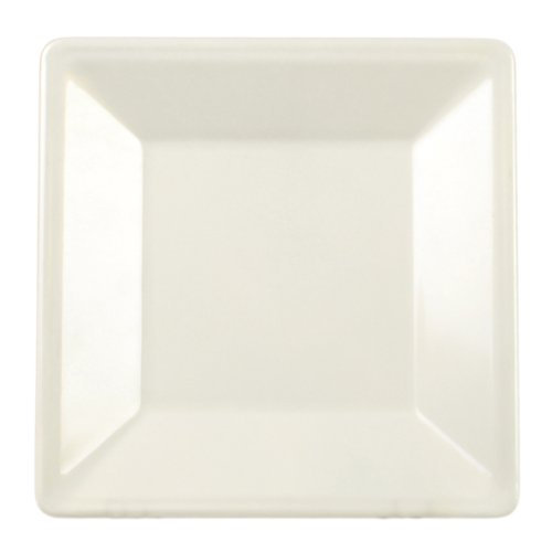 Excellanté Royal Pearl Collection 4-Inch Square Plate, Royal Pearl