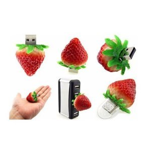 High Quality 8 GB Food Strawberry USB Flash drive by T &  J