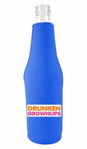 Drunken Grownups Bottle Coolie Royal Blue With Opener front-633970