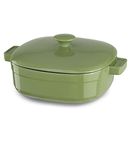 Kitchenaid Cast Iron Streamline Cookware Kcli40crki Kiwi Green 4-quart Casserole