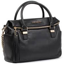 MICHAEL Michael KorsMichael Kors Weston Medium Satchel Black Leather handbag 30F3GWSS2L